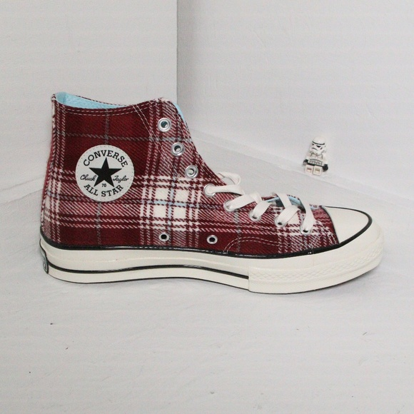 982236ad95e7 Converse Shoes | Chuck 70 Red Elevated Plaid High Tops | Poshmark